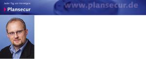 Logo Plansecur mit Photo Werner Seidel