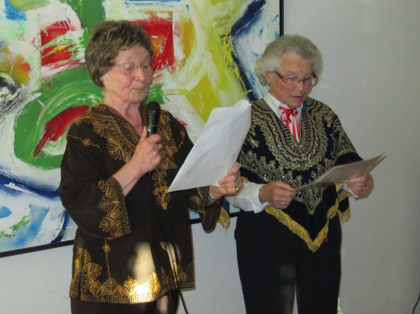 Martha Haag und Reinlinde Holl-Benner Vortrag Fasnacht 2019